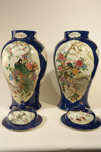 A Late 19th Century Pair of Chinese Baluster Vases