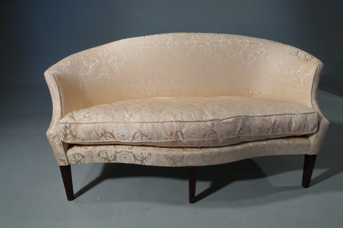 An Elegant Early 20th Century Oval Backed Sofa of Hepplewhite Design