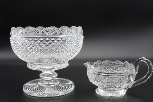 A Rare Example of an Early 19th Century Strawberry and Cream Pair