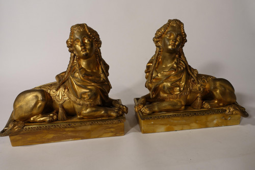 A Good and Original Pair of Late 19th Century Sphinx