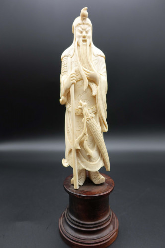 A Well Carved Early 20th Century Ivory Figure of Nobleman