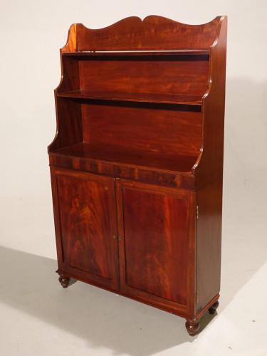 An elegant George III Period Mahogany Waterfall Bookcase