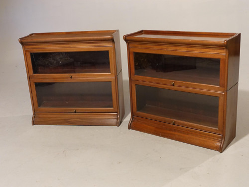 An Attractive Pair of Early 20th Century Sectional Bookcases