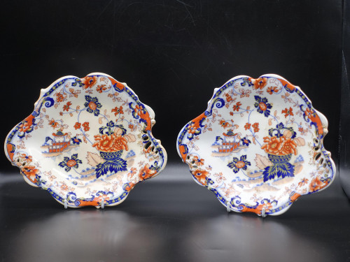 A Very Pretty Pair of Late 19th Century Porcelain Plates in the Japanese Style.