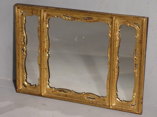 A Three Part 19th Century Period Giltwood Mirror