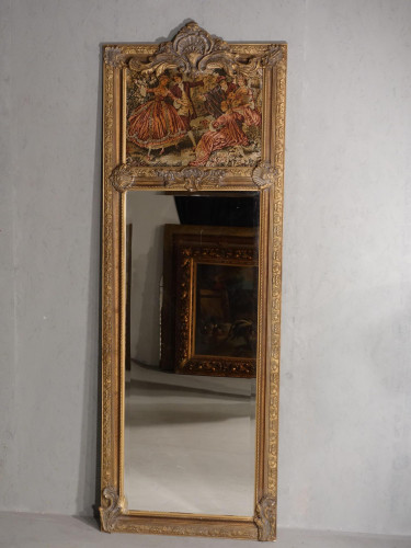 A Late 19th Century French Trumeau Mirror