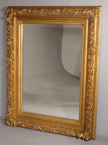 A Good Late 19th Century Rectangular Giltwood Mirror