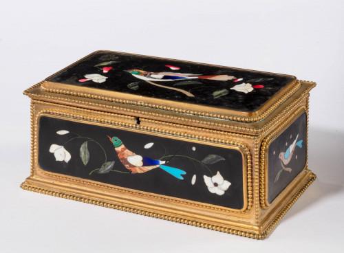 Late 19th Century Italian Pietra Dura Casket