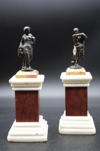 An Unusual Mid 19th Century Pair of Grand Tour Miniature Desk Bronzes