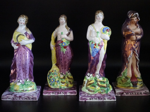 A Fine Set of Early 19th Century Dixon and Alcocks Figures of the Four Seasons