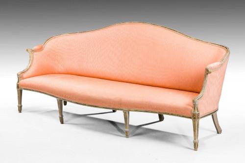 George III Period Parcel Gilt Sofa