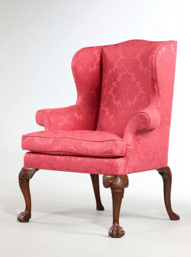 George II Period Wing Chair in the Manner of Giles Grendey