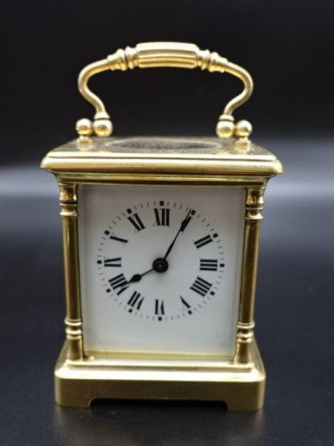 A Good Early 20th Century French Brass Carriage Clock