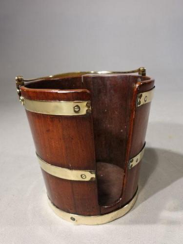 A George III Period Mahogany Plate Bucket