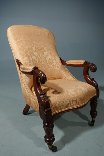 A Handsome William IV Period Mahogany Library Chair
