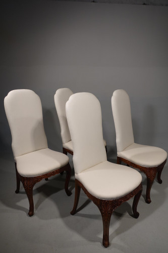 A Set of 4 Early 20th Century Mahogany Framed Chairs