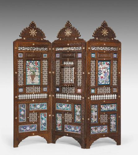 19th Century Middle Eastern Three Fold Screen