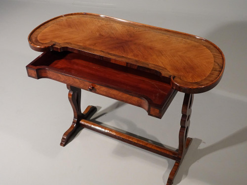 An Exceptional Late 19th Century Kingwood Kidney Shaped Writing Table