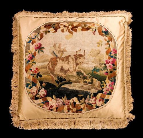 Cushion: Early 18th Century Wool