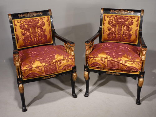 An Exceptional Pair of Early 20th Century French Salon Chairs