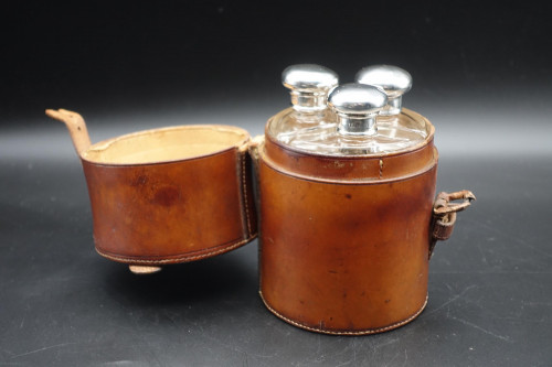 An Early 20th Century Military Cut Glass Decanter Set