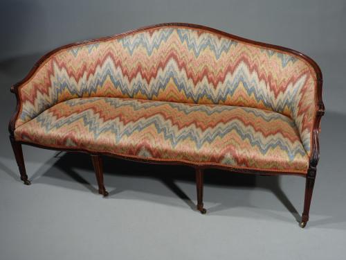 A Shapely and Elegant Mid 19th Century Camelback Sofa