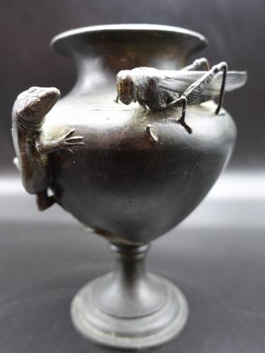 A Finely Cast Late 19th Century Meiji Japanese Bronze Vase