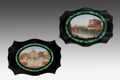 Pair of 19th Century Micro Mosaics
