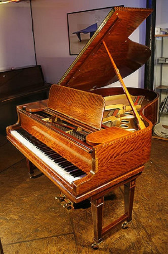 Steinway Model O Grand Piano with an Inlaid, Satinwood Case