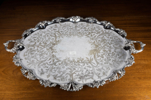 A Magnificent Late Victorian Silver Plated Tray