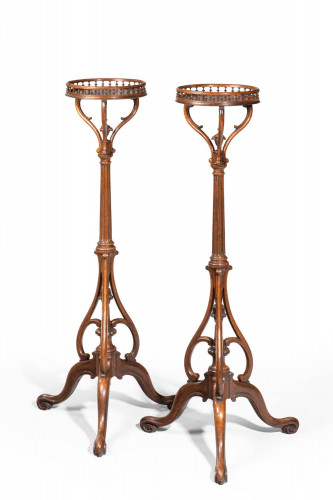 An Elegant and Unusual Pair of 19th Century Torcheres