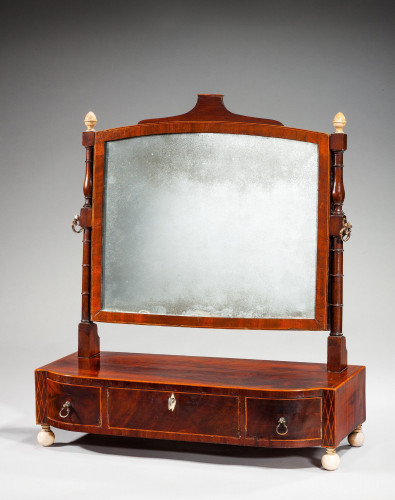 Regency Period Bow Fronted Dressing Mirror