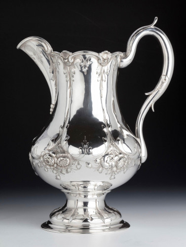 An Early 20th Century American Silver Beer or Water Jug