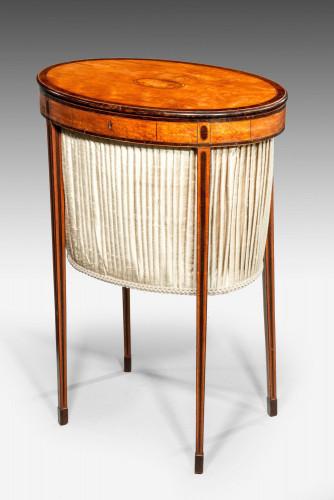 George III Period Satinwood Work Table