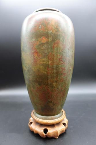 A Late 19th Century Japanese Bronze Ovoid Vase