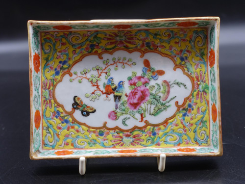 A Beautifully Enamelled Late 19th Century Chinese Porcelain Card Tray.
