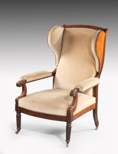 George III Period Mahogany Gentleman's Chair with Detachable Wings