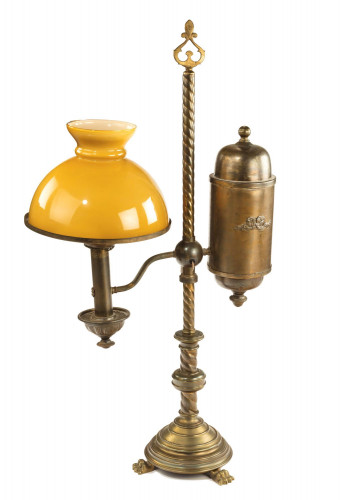 Late 19th century Argand table oil lamp