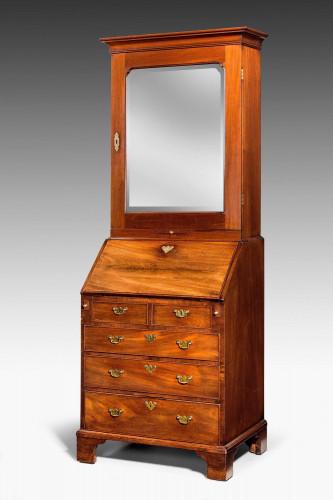 Chippendale Period Mahogany Bureau Bookcase