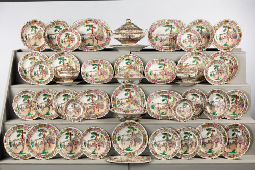 Late 19th Century Staffordshire Dinner Service