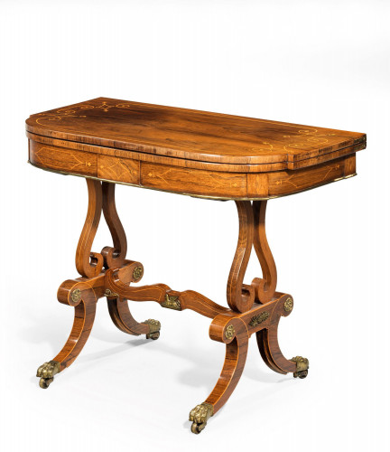 An Exceptional Regency Period Rosewood Card Table