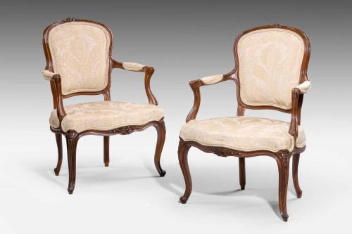 Pair of 18th Century Louis XV Period Fauteuils