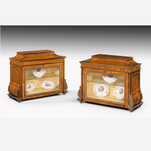 A Rare Pair of George III Period Kingwood Table Cabinets