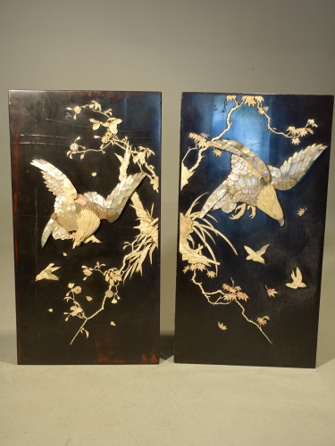 A Quite Exceptional Pair of Early 20th Century Eastern Panels