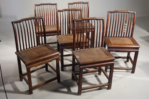 A Good and Original Set of 6 Late 19th Century Oriental Chairs