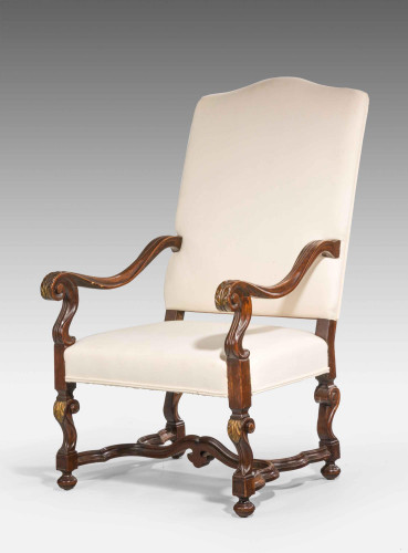 A Parcel Gilt and Oak Chair Of 17th Century Design