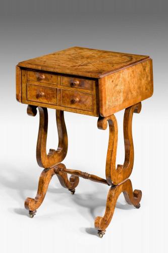 A Regency Period Amboyna Work Table
