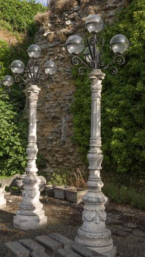 Pair of Neoclassical Lamp Posts