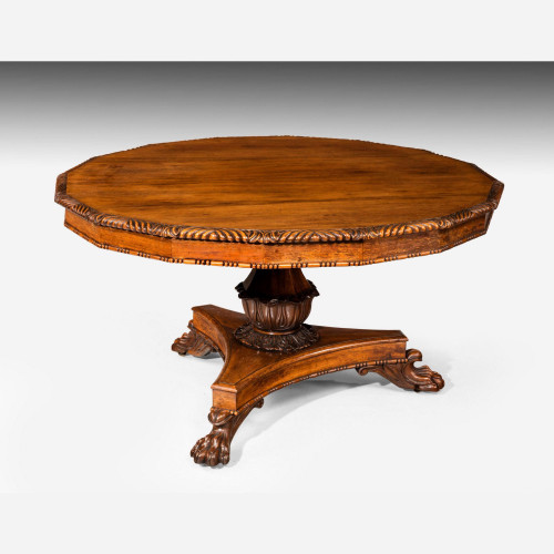 Regency Period Rosewood Centre Table