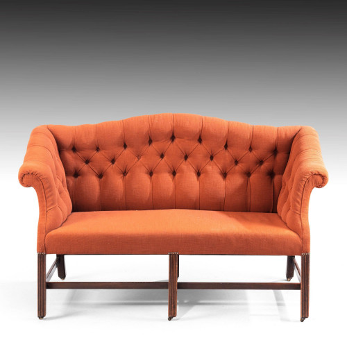 An Elegant Chippendale Period Camel Backed Sofa